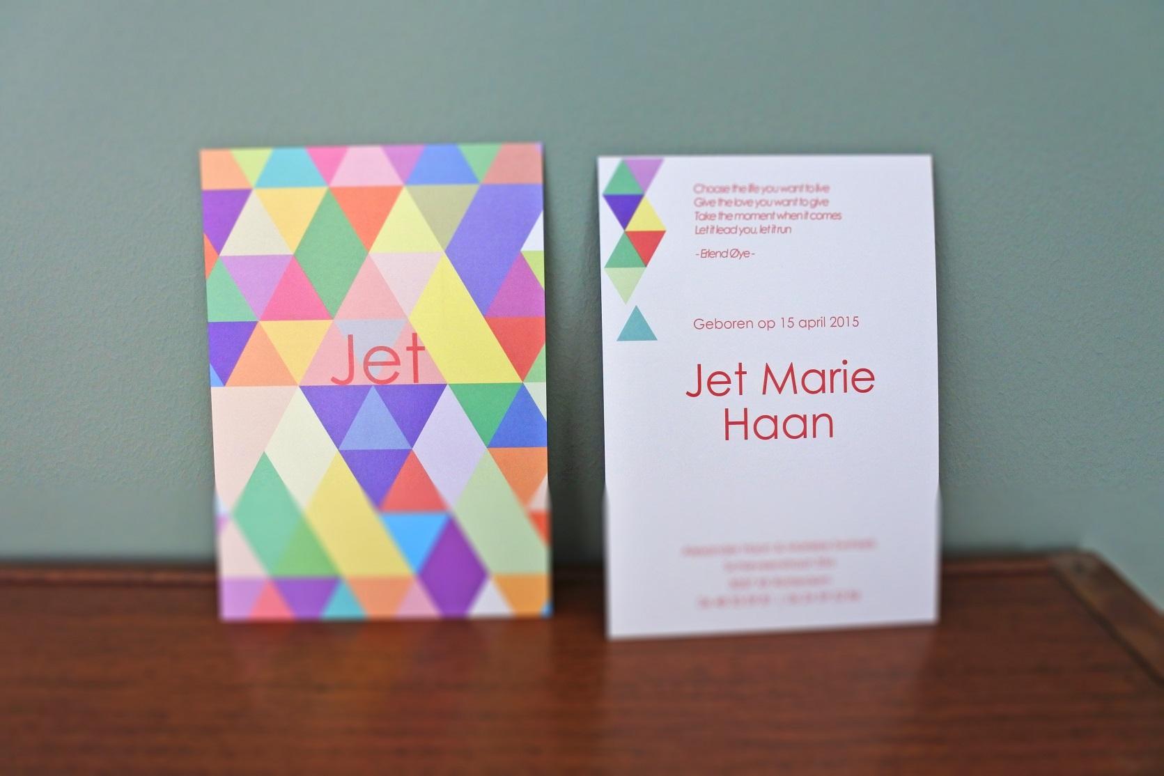 geboortekaartje Jet