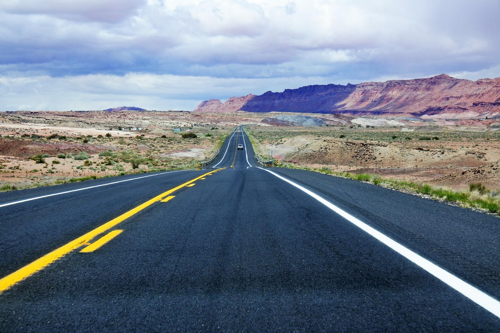 On the road in Arizona, USA